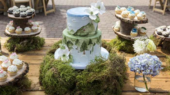 wedding cakes vancouver grouse mountain skyride inspired wedding cake grouse 25868