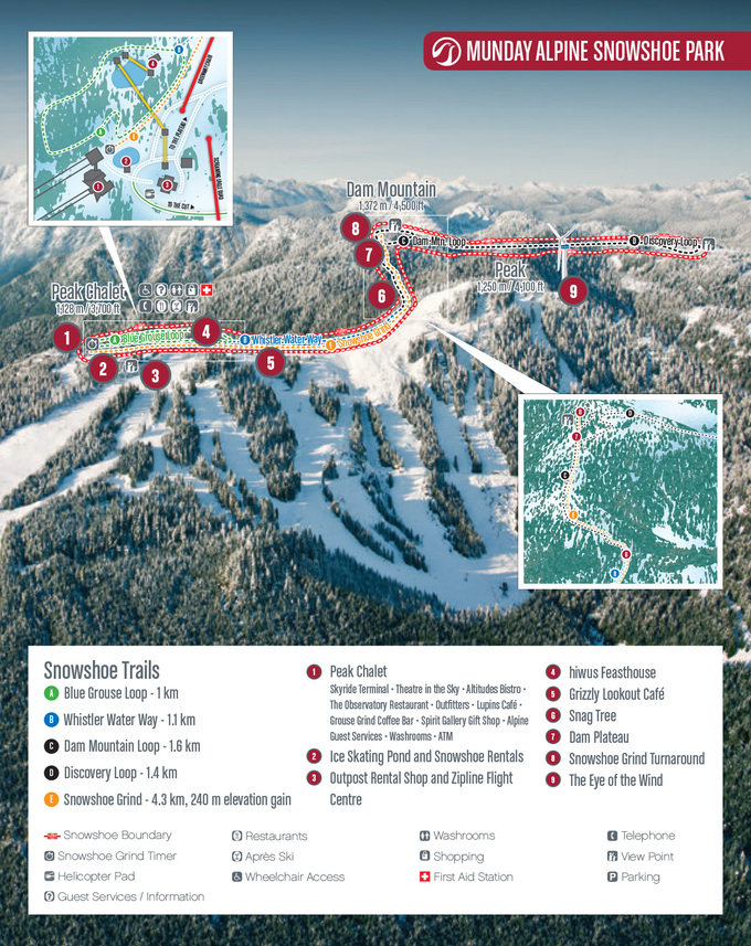 Snowshoeing - Trail Map | Grouse Mountain - The Peak of ... on oglebay park trail map, snowshoe rentals, snowshoe hotel map, winterplace ski resort trail map, north mountain trail map, brundage mountain trail map, stevens pass ski area trail map, brian head ski resort trail map, allegheny mountain trail map, north carolina trail map, seven springs mountain resort trail map, pine knob trail map, snowbasin mountain trail map, norway mountain trail map, tamarack resort trail map, cross country ski trail map, snowshoe lodging map, copper mountain trail map, les arcs trail map, breckenridge trail map,