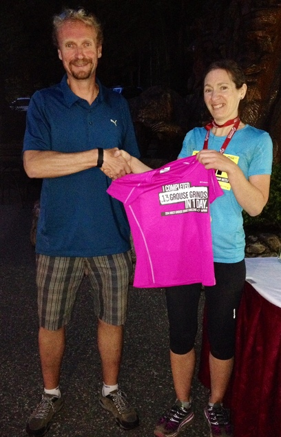 Sarah Tomlinson, top female competitor (13 strong ascents)