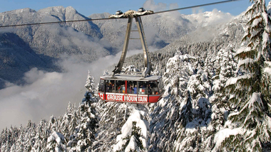 skyride in the winter