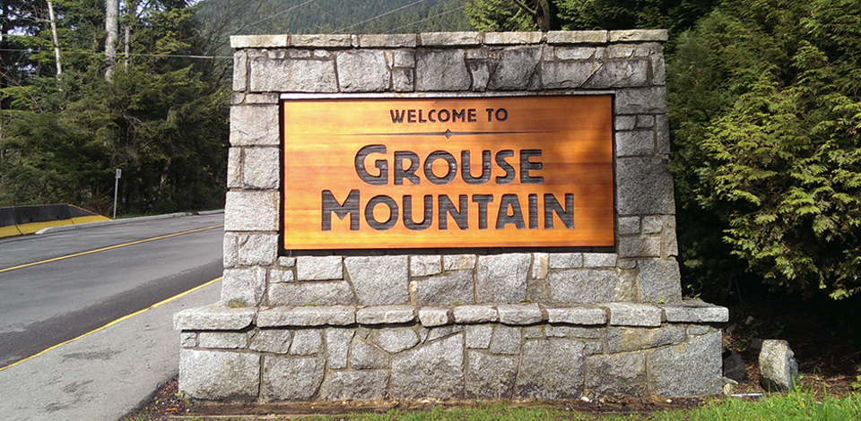 parking, sign, entrance, grouse mountain