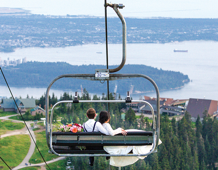 Enjoy incredible views with your weeding at the Peak of Vancouver.