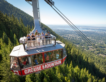 Hop on the roof of Grouse Mountain's Super Skyride.