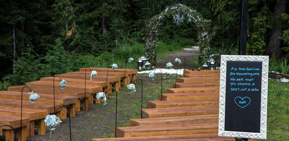 Hummbingbird Garden wedding venue at Grouse Mountain