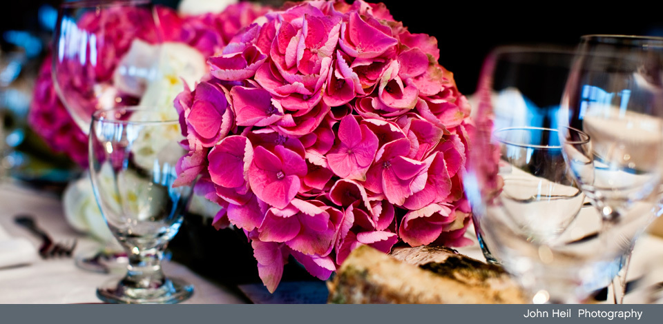 table decor at a Grouse Mountain venue for wedding