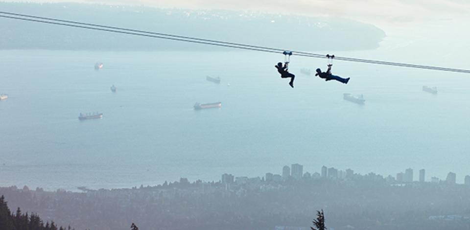 Soar faster with Grouse Mountain Ziplines
