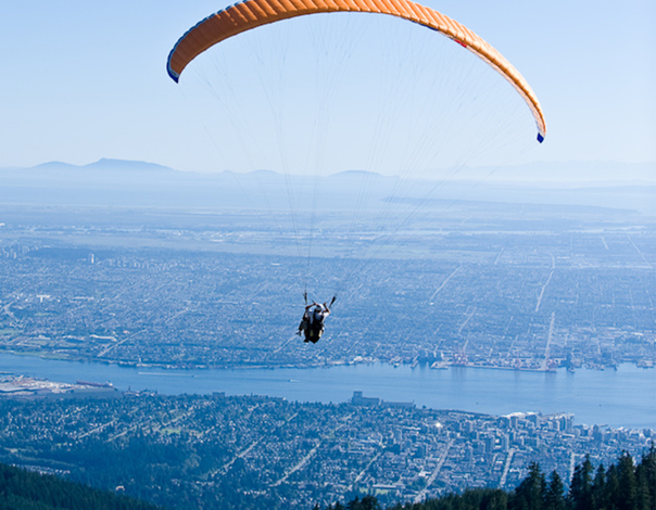 Paraglide this summer at Grouse Mountain