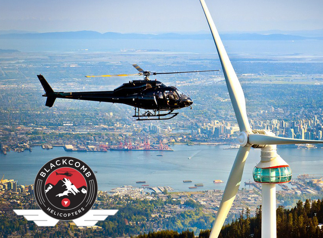 Scenic heli-tours at Grouse Mountain