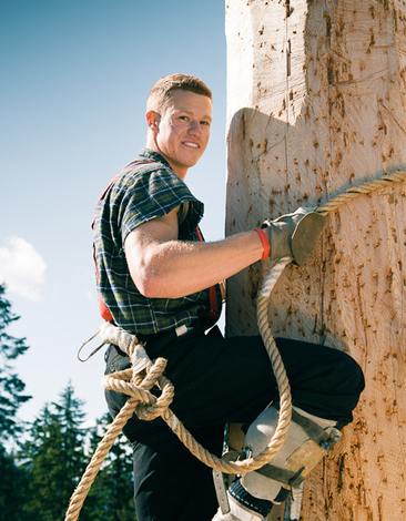 Explore a great Canadian Lumberjack Show at Grouse Mountain