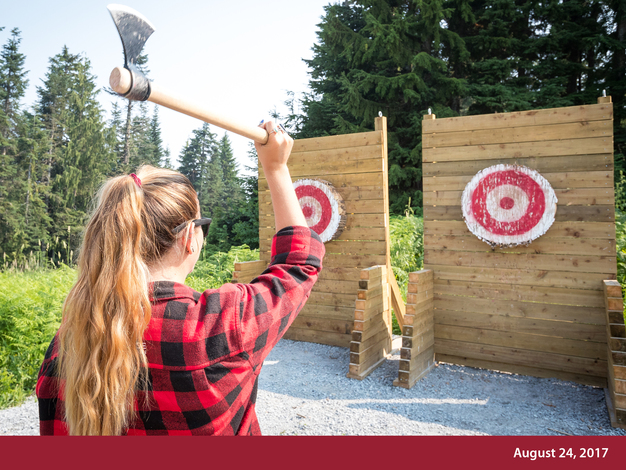 Join us this summer for a Hatchet Throwing Experience