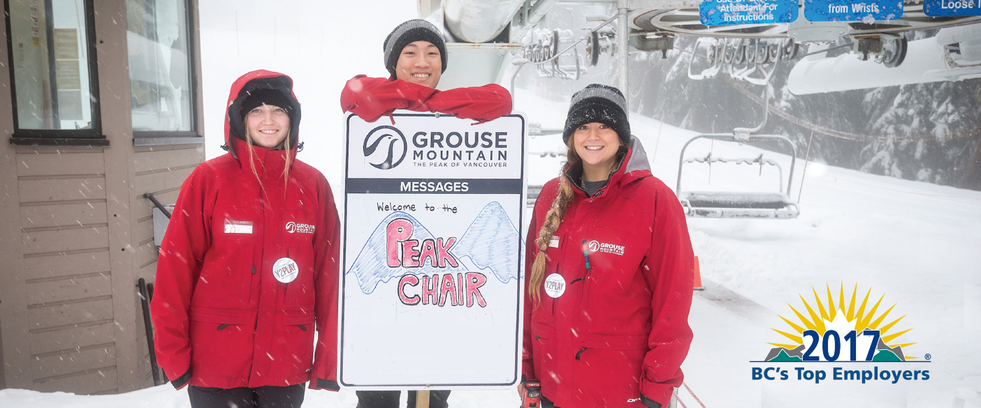 Grouse Mountain is holding a hiring fair from October 12-14. Come see what position is right for you!