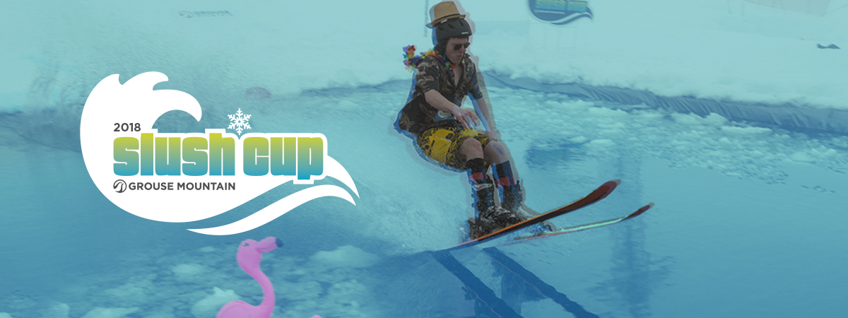 Time to hit the pond and test your skills at Grouse Mountain's Slush Cup!