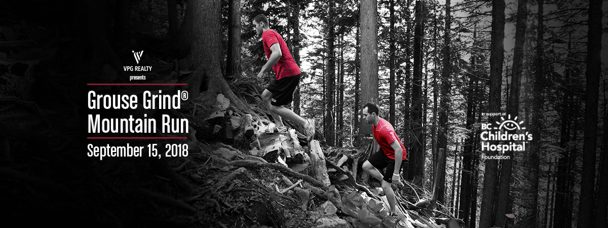 Join us September 15, 2018 for the Grouse Grind Mountain Run!