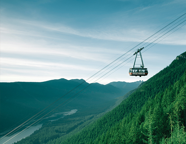 Travel on the Grouse Mountain Super Skyride!