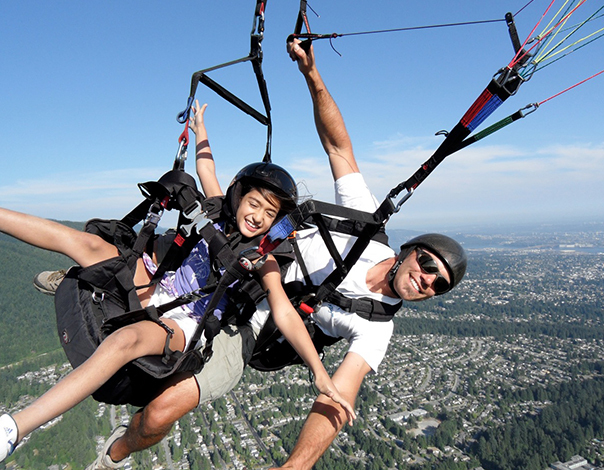 Soar above Vancouver with Grouse Mountain's Tandem Paragliding.