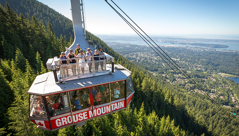 Join us on the rooftop of the Grouse Mountain Super Skyride!