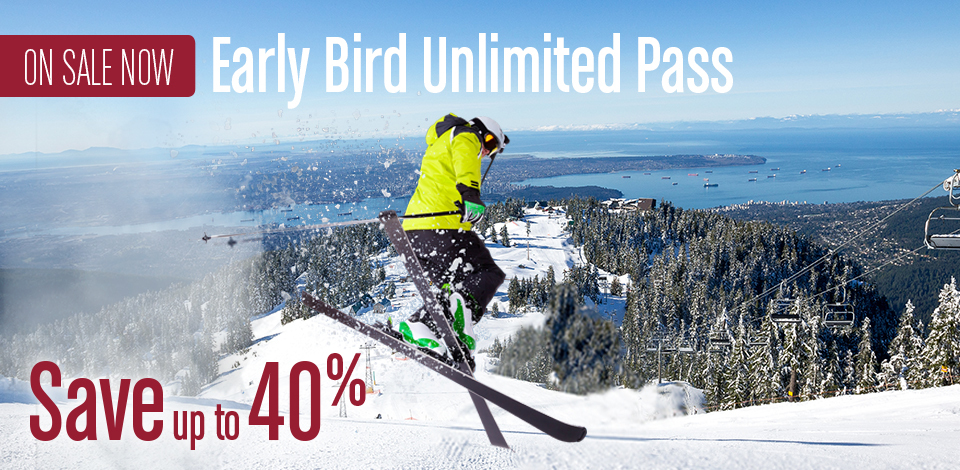 Save up to 40% on a winter pass with Early Bird