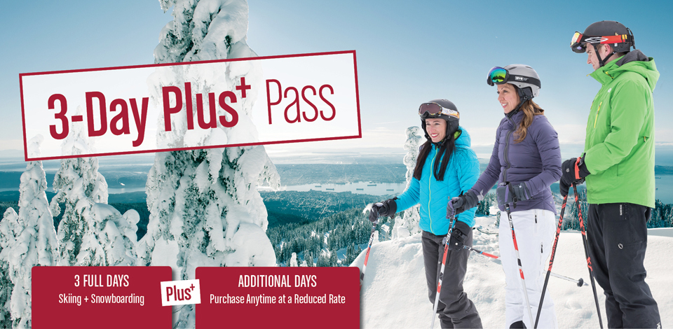 3-Day Pass with the flexibility to add more days at a discounted price.