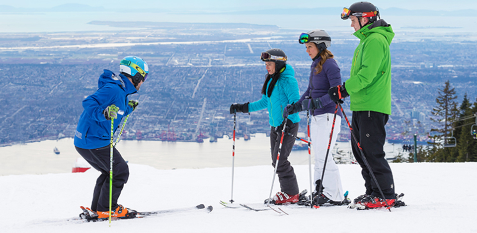 Learn to ski or snowboard this winter at Grouse Mountain.