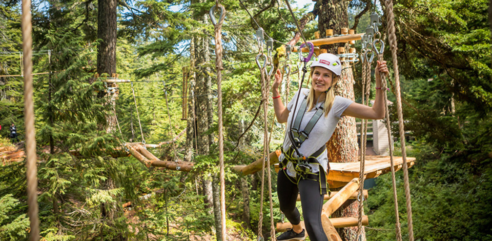 New aerial ropes course at Grouse Mountain