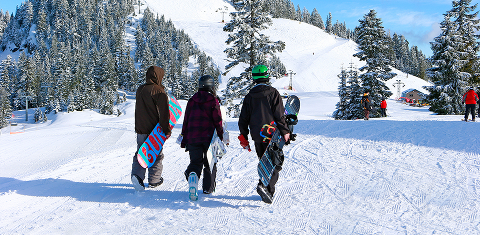Make friends and gain skills with ski and snowboard clubs.