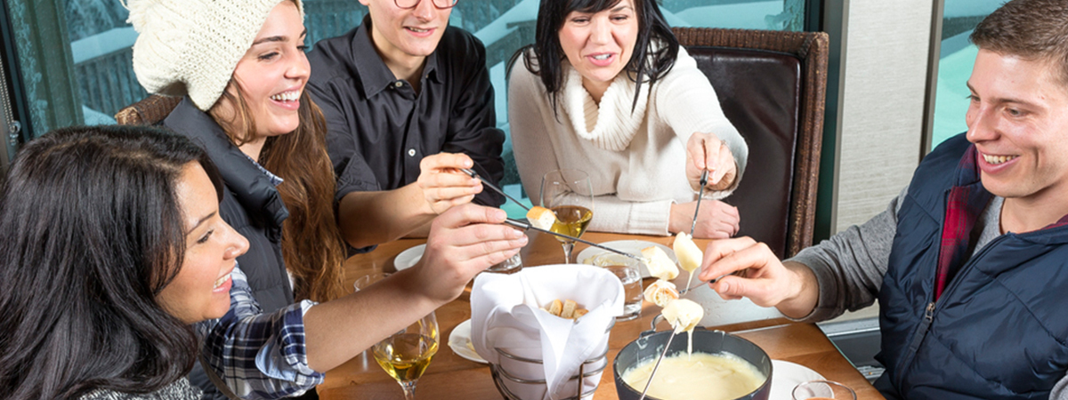 Enjoy a snowshoe and fondue experience on New Year's Eve