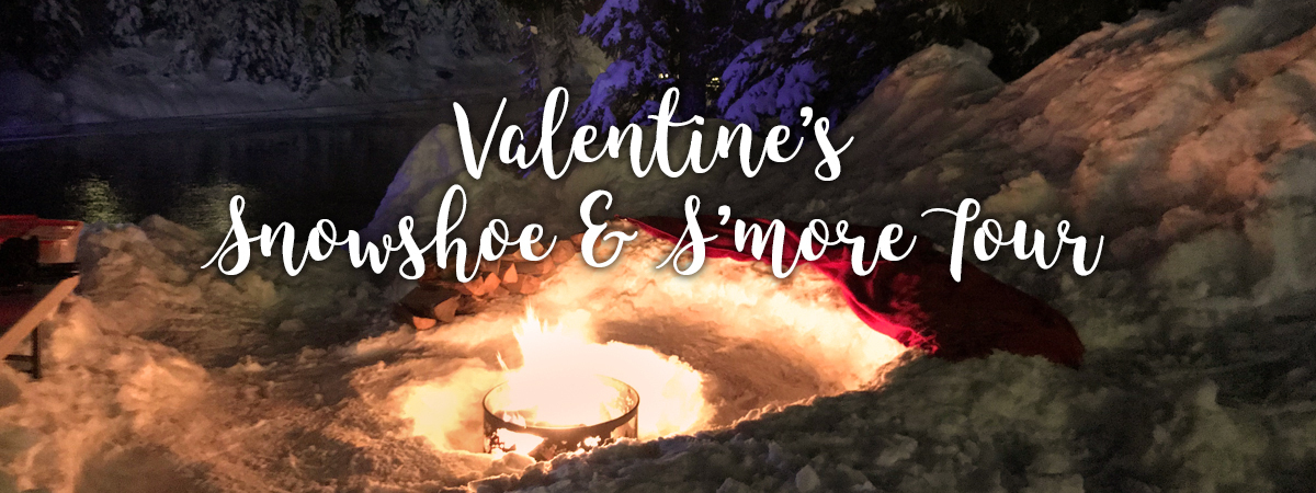 This Valentine's Day come up to Grouse Mountain for a Snowshoe Tour with some yummy s'mores