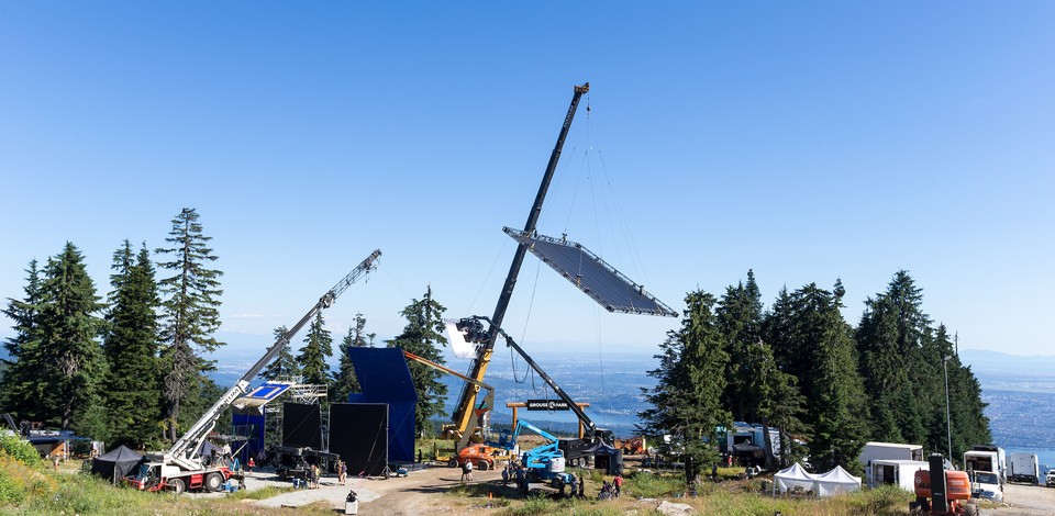 filming at Grouse Mountain
