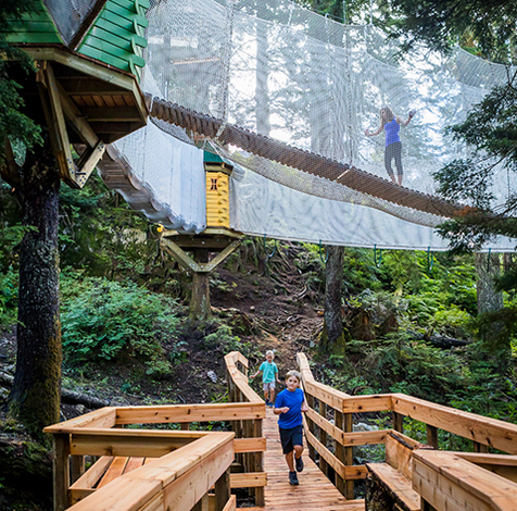 Enclosed kids playground at Grouse Mountain