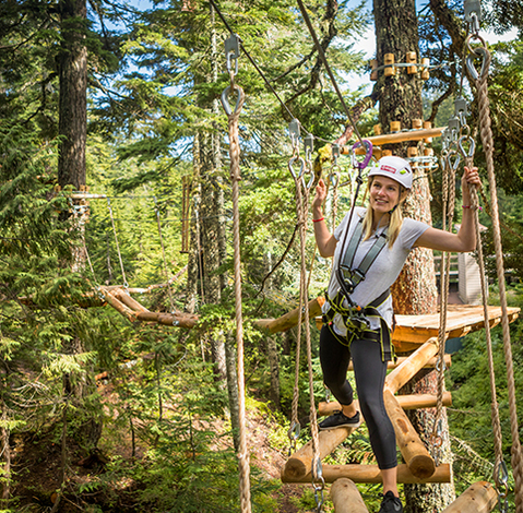 treetop aerial ropes course