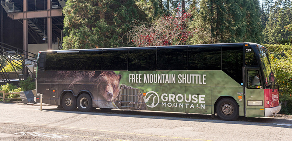 Grouse Mountain has a free summer shuttle