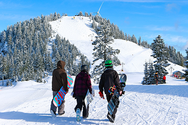 Ski and snowboard lessons for youth at Grouse Mountain