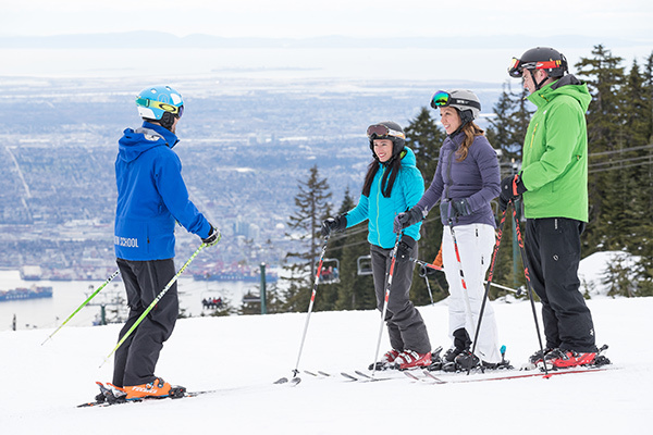 Ski and snowboard lessons for adults at Grouse Mountain