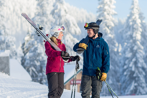 ski and snowboard rentals at Grouse Mountain