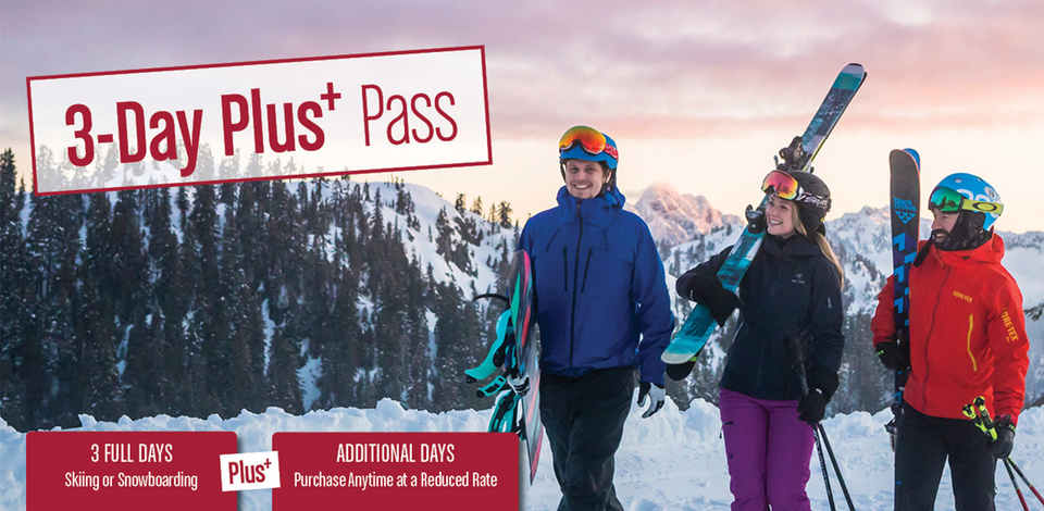 Save with a 3-Day Plus Pass this winter